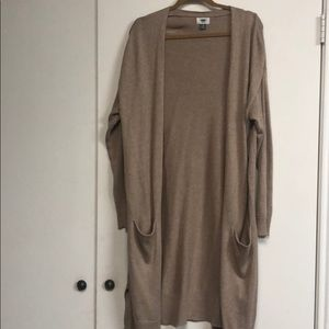 Oatmeal Duster Sweater